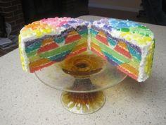 Rainbow Heart By elkcreekfarm on CakeCentral.com