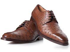 Luxus Schuhe in Braun - No. 430 Straußenleder Schuhe: Amazon.de: Schuhe & Handtaschen