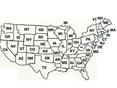 Blob Mapping For The US Simplifying Map Drawing For Kids So - Drawing of usa map