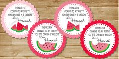 Printable Watermelon Party Favor Tags