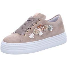 1e8bb88d56cf6 Ganz vorne mit dabei - Flower-Power Sneaker mit stylischer Plateau-Sohle.