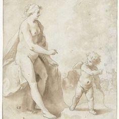Venus en Amor, Cornelis van Poelenburch, 1600 - 1636 - Rijksmuseum