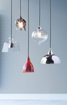 A stunning shot of our 4 contemporary pendants. These will certainly add a bit of sparkle to your home.