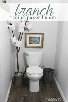 Rustic bathrooms 290200769736997936 - Have you been looking for a rustic bathroom branch toilet paper holder that is not only functional, but also SUPER EASY as well? Then stop on by super plum! Source by Diy Toilet Paper Holder, Toilet Paper Storage, Paper Holders, Toilet Roll Holder, Industrial Bathroom Vanity, Wc Decoration, House Decorations, Deco Cool, Rustic Toilets