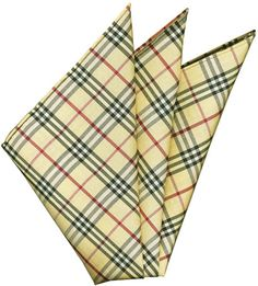 Plaid Thai Silk Pocket Square #56