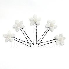 Headpieces - $9.99 - Gorgeous Alloy/Pearl/Satin Hairpins (042024897) http://jjshouse.com/Gorgeous-Alloy-Pearl-Satin-Hairpins-042024897-g24897