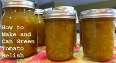There are many relish recipes out there, but this green tomato relish is really good and is easy to make and can. It tastes very similar to traditional hot dog relish.