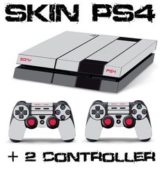 PS4 NINTENDO SKINS  2 controller sony playstation 4 sticker decal