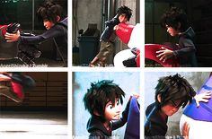 Now who dosen't love Hiro's face. These faces show in the ENTIRE movie.