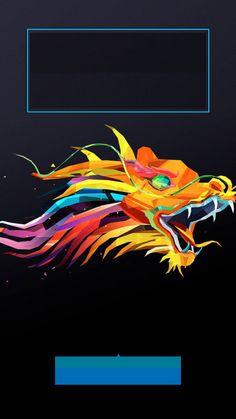 ↑↑TAP AND GET THE FREE APP! Lockscreens Art Creative Dragon Fire Multicolour Black HD iPhone 6 Lock Screen