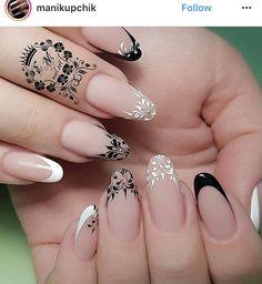 NagelDesign Elegant ( Ongles ) – NagelDesign Elegant ♥ - Famous Last Words Classy Nails, Stylish Nails, French Nail Designs, Nail Art Designs, Nails Design, Design Design, Hair And Nails, My Nails, Nagel Hacks
