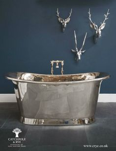 Nickel tub from Catchpole & Rye. I imagine this being really cold but so pretty!