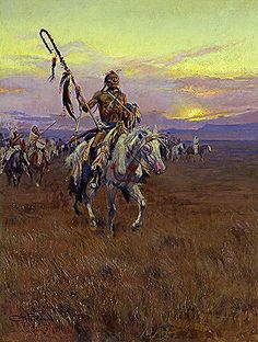 Title: Medicine Man, 1916 Artist: Charles Marion Russell Medium: Hand-Painted Art Reproduction