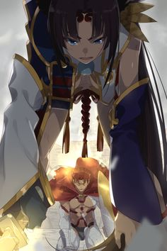 Ushiwakamaru and Leonidas Fate Stay Night Series, Fate Stay Night Anime, Type Moon Anime, Anime Love, Kawaii Anime Girl, Anime Art Girl, Character Art, Character Design, Fate Characters