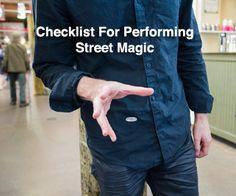 Performing Street Magic