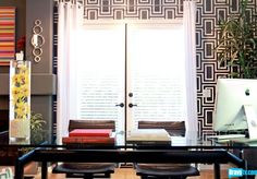 i like this wallpaper for a home office space another