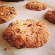 Spelt Ginger Cranberry Cookies
