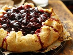 Sour cream cherry crostata pie by Ian Knauer. Interesting ... sour cream and Montmorency cherries? will try!