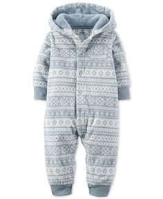 Carter's Baby Boys' Fair Isle Hooded Coverall - Baby Boy (0-24 months) - Kids & Baby - Macy's
