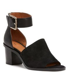 Loving this Black Brielle Ankle Strap Suede Sandal on #zulily! #zulilyfinds