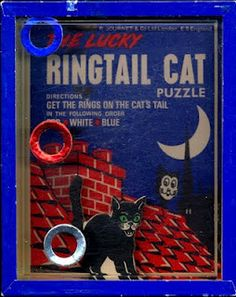 Old Black Cat Dexterity Puzzle Game Vintage Cat, Vintage Toys, Vintage Board Games, Old Cats, Needful Things, Vintage Halloween, Card Games, Puzzles, Children Books