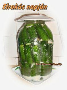 Marcsi Boszorkány Konyhája: Kovászos uborka télire Preserves, Pickles, Cucumber, Canning, Fruit, Food, Decor, Preserve, Decoration