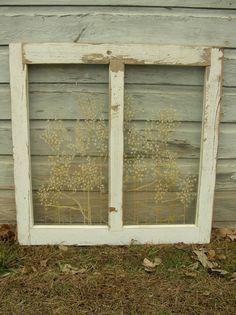 Antique Barn Window Painting. $125.00, via Etsy.