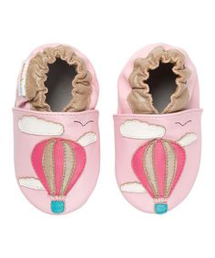 Another great find on #zulily! Pink Away We Go! Leather Bootie by MOMO Baby #zulilyfinds