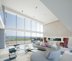 Contemporary Houses - contemporary - living room - new york - Austin Patterson Disston Architects