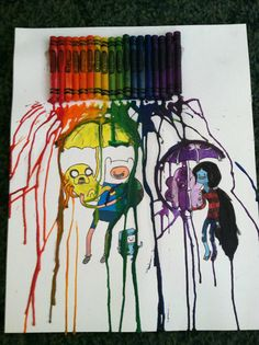 Adventure Time crayon art