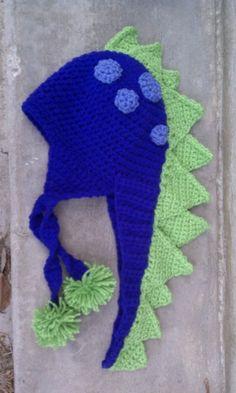 crocheted dino hat, Spike by Heidi Yates, pattern $3.99