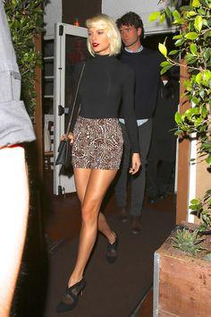 Taylor Swift Wears Leopard Print Hot Pants in Santa Monica. Fabulous shoes too