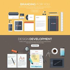 Buy Flat Designed Banners by on GraphicRiver. Flat designed banners for Branding for you and Design development. Vector Included Files: AI CS: (Vector-Fully Text E. Flat Design, Web Design, Graphic Design, All Fonts, Corporate Identity, Coreldraw, Design Development, Portfolio Design, Banner Design
