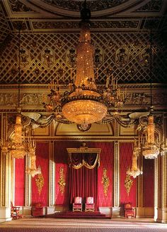 That's pretty. Arch Interior, Interior And Exterior, Interior Decorating, Carlton House, Paper Chandelier, Throne Room, Tumblr, Windsor Castle, Buckingham Palace