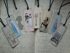 Bookmarks/Gift Tags  Regency  Jane Austen  set of by TurtleDoves, $7.95