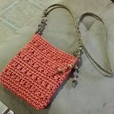 Shop Women's size OS Bags at a discounted price at Poshmark. Knit Or Crochet, Cute Crochet, Crochet Crafts, Crochet Handbags, Crochet Purses, Crochet Basket Pattern, Crochet Patterns, Macrame Plant Hanger Patterns, Crochet Phone Cases