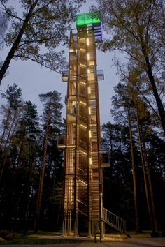 Observation Tower at Dzintaru Mezaparks in Jurmala, Latvia - photo by Arnis Kleinbergs;  designed by ARHIS