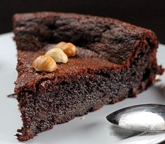 Flourless Nutella Chocolate Cake. Will make one day using Agava to replace the white sugar and bananas for the butter.