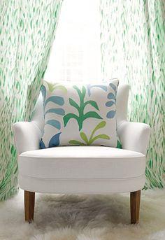 tilton fenwick:  Pillow: Ode to Matisse in Leaf / Ocean, 174951 via Schumacher