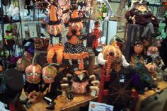 Halloween display with Gathered Traditions.