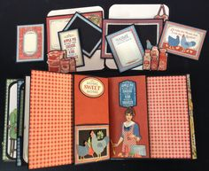 annes papercreations: Graphic 45 Home Sweet Home Spice Rack with a recipe Mini Album inside by Anne Rostad