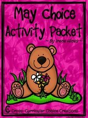 May Choice Activity Packet: No Prep Cross-Curricular Anchor - May Choice Activity Packet: Spring No Prep Cross-Curricular Anchor Activities For Second Grade!This is the second packet of my new line: Cross-Curricular Choice Creations!This choice activity packet is perfect for independent anchor activities! Teachers can provide differentiation due to student choice of activities. With teacher guidance, each child sets an individual goal to complete. I have my students keep them in their…