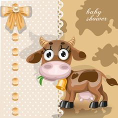 Beautiful exotic animals vector cards with a baby lion, zebra, camel and cow in the front and cute colorful backgrounds that complete the set. Yes, this is one good vector pack for any kid's birthday invitations or other similar project, don't you think? Cow Clipart, Cow Vector, Vector Free, Cartoon Baby Animals, Cartoon Cartoon, Baby Zebra, Baby Cows, Free Cartoons, Cute Cows