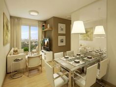 Sala de Jantar Apartamento Pequeno 25