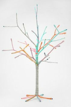 Yarn-Wrapped Tree- could be a DIY