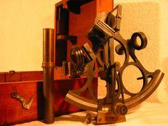 Sextant, sextante de Liverpool. Museu d'Arenys de Mar.