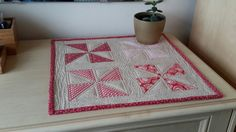 Pinwheel mini quilt