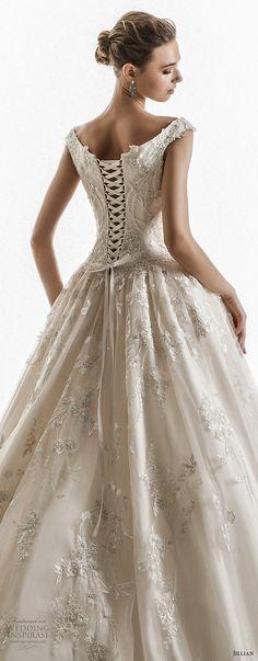 jillian 2018 bridal off the shoulder cap sleeves sweetheart neckline heavily embellished bodice princess ball gown wedding dress corset back chapel train (10) zbv -- Jillian 2018 Wedding Dresses