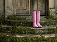 Ditch dull wellies by opting for this cute pink pair from Hunter