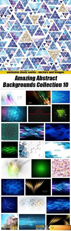 Amazing Abstract Backgrounds Collection 10 - 25xEPS http://www.desirefx.me/amazing-abstract-backgrounds-collection-10-25xeps/
